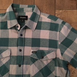 Brixton plaid flannel size small